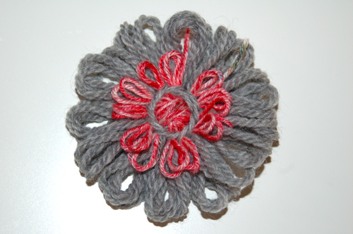 Wool-yarn-flower