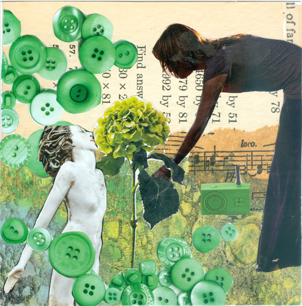Stop and Smell the Flowers - Art of Collage Week1