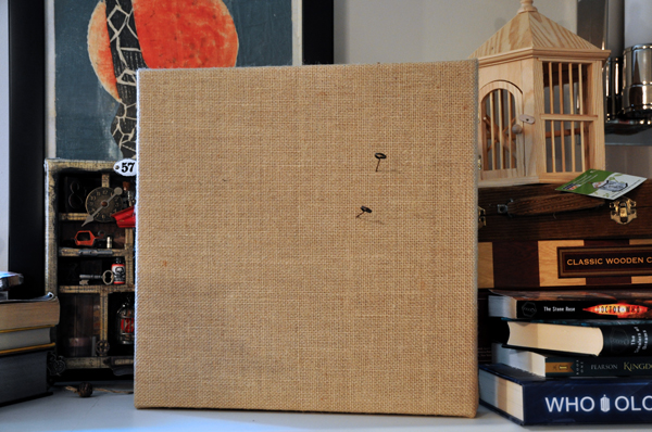 Burlap memo board by Life Outside the Fishbowl