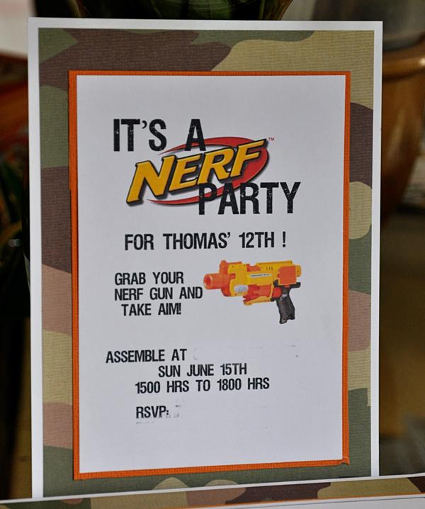 Nerf-Party-Invitation