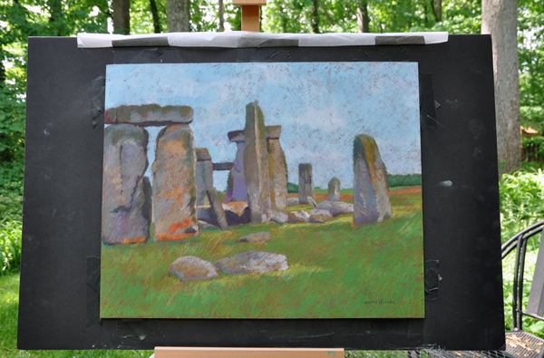 Stonehenge - pastel on prepared surface
