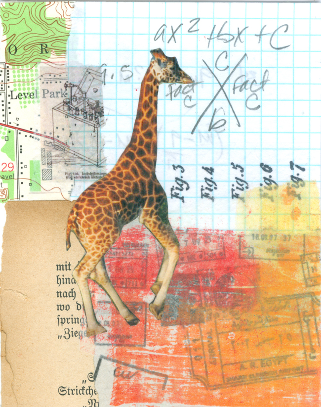 Sahara - Collage on Watercolor Paper - Life Outside the Fishbowl