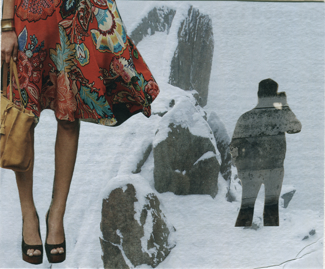 "30 Days of Collage - Day 3 - Deborah Mahnken - ""Ladder of Success"""