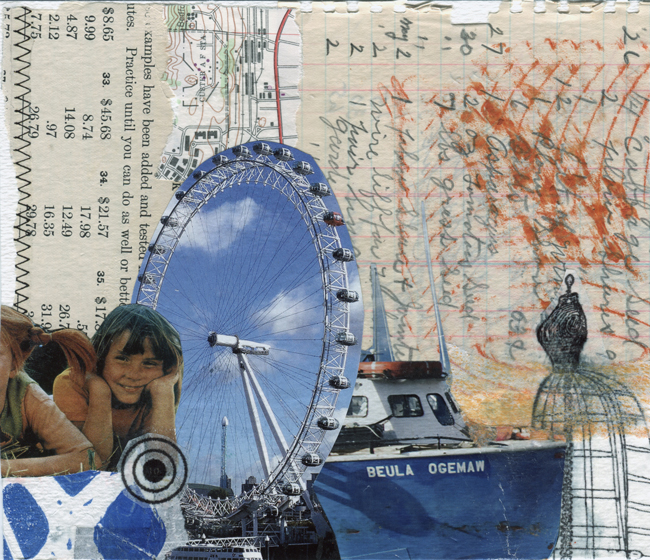 "30 Days of Collage - Deborah Mahnken - ""Summer on the Lake"""