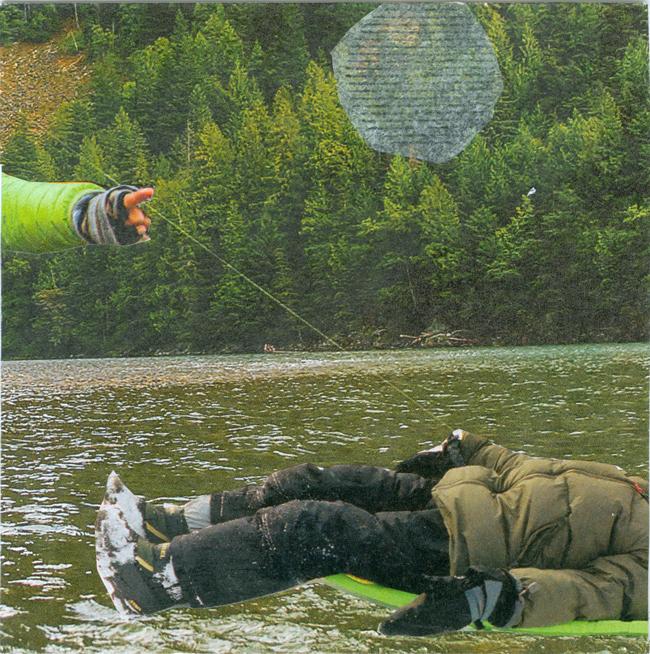 Monochromatic collage by Deborah Mahnken for Randel Plowman's 30 Days of Creativity Workshop