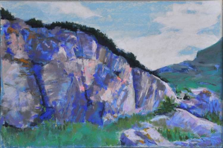 Highland Pass; soft pastel on 400 UArt by Deborah Mahnken