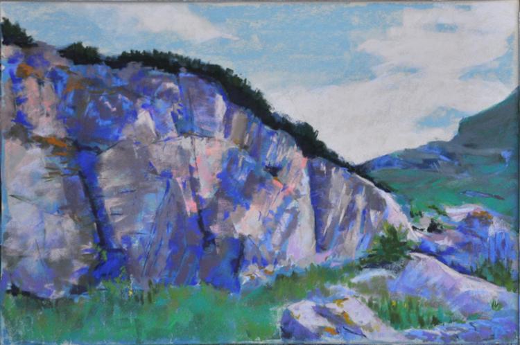 Highland Pass; soft pastel on 400 UArt by Deborah Mahnken